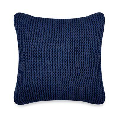 Nautica® Leighton Knit Square Throw Pillow in Cobalt Blue