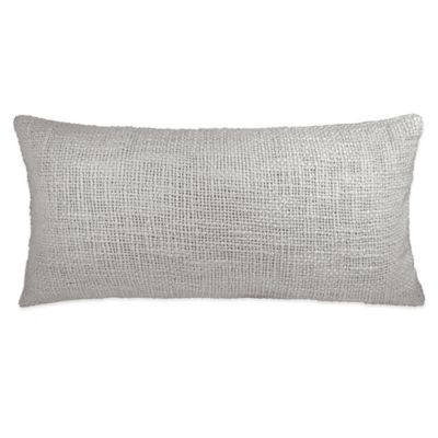 DKNY Loft Stripe Woven Oblong Throw Pillow in Grey