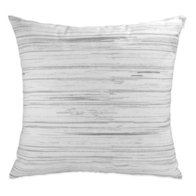 DKNY Loft Stripe Printed Square Throw Pillow in White