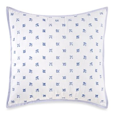 Wedgwood® China Blue Floral Square Throw Pillow
