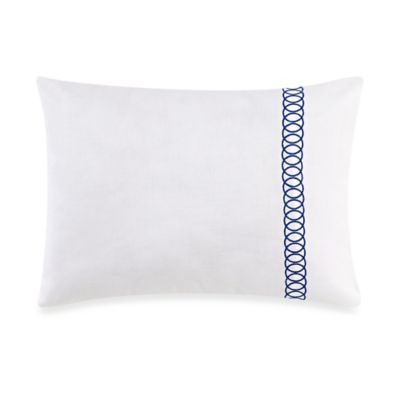 Wedgwood® China Blue Floral Embroidered Breakfast Throw Pillow