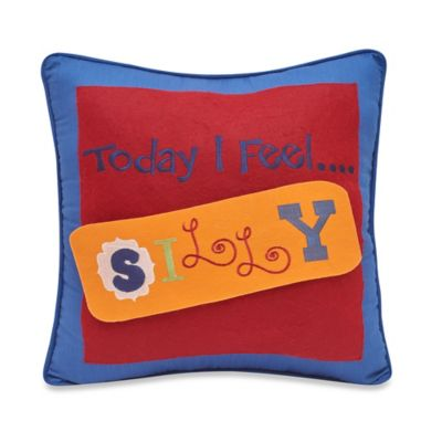 Frank and Lulu Caleb Square Throw Pillow in Red/Blue