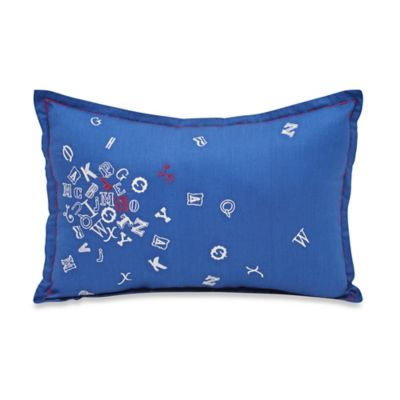 Frank and Lulu Caleb Oblong Throw Pillow in Blue