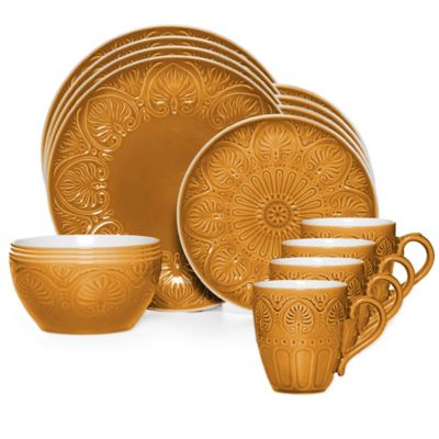 Pfaltzgraff® Dolce 16-Piece Dinnerware Set in Honey