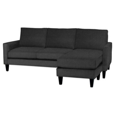 Charcoal Chaise Sofa