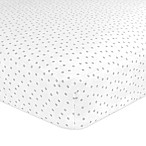 Just Born® Classic Collection Gramercy Dots Fitted Crib Sheet in Grey
