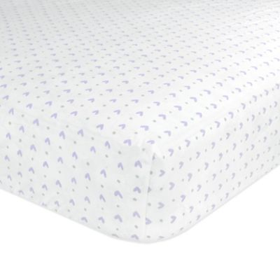 Just Born® Safe Sleep Emma Fitted Crib Sheet in Lilac