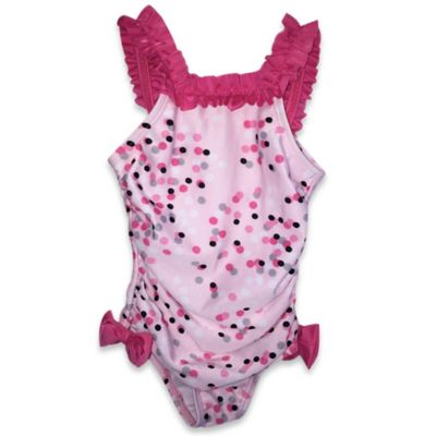 Pink Dot & Ruffle Swimsuit