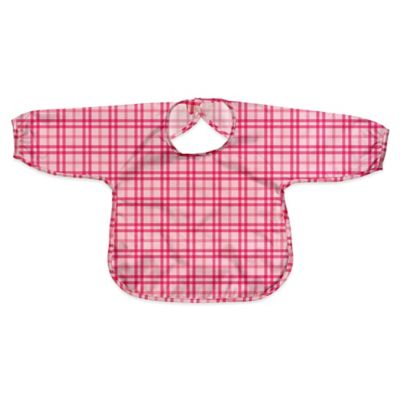 i play.® Size 12-24M Long Sleeve Waterproof Best Bib in Pink Plaid
