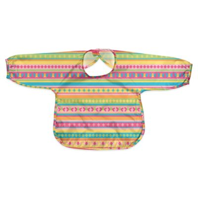 i play.® Size 12-24M Long Sleeve Waterproof Best Bib in Pink Stripe