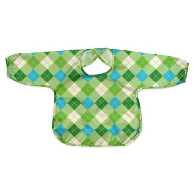 i play.® Size 12-24M Long Sleeve Waterproof Best Bib in Green Argyle