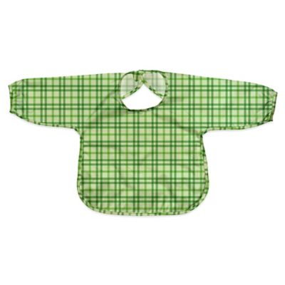 i play.® Size 12-24M Long Sleeve Waterproof Best Bib in Green Plaid