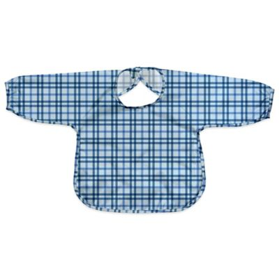 i play.® Size 12-24M Long Sleeve Waterproof Best Bib in Blue Plaid
