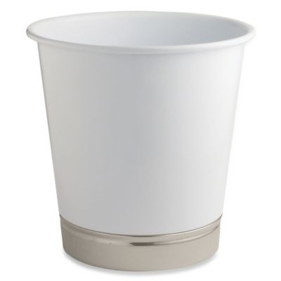 InterDesign® York Wastebasket in Matte White