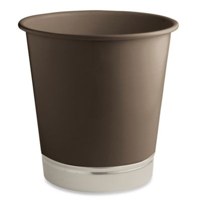 InterDesign® York Wastebasket in Matte Brown