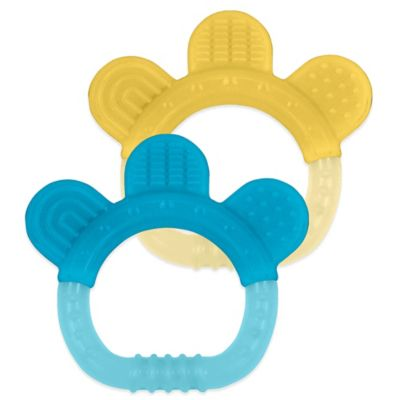 green sprouts® by i play.® 2-Pack Sili Paw Teether in Yellow/Blue
