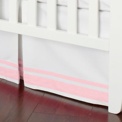 Just Born® Safe Sleep Crib Skirt in Barely Pink
