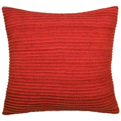 DKNY Urban Sanctuary Chunky Knit Square Throw Pillow in Coral