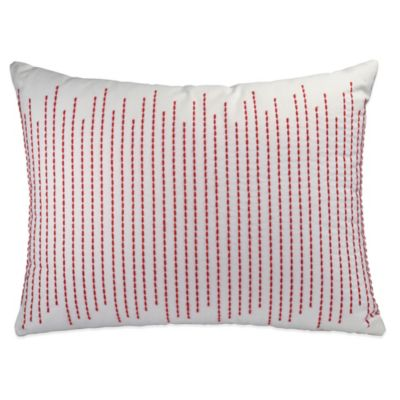 DKNY Urban Sanctuary Embroidered Oblong Throw Pillow in Ivory
