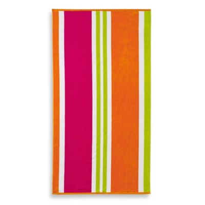 Multi-Stripe Jacquard Beach Towel