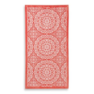 Oversized Medallion Print Beach Towel