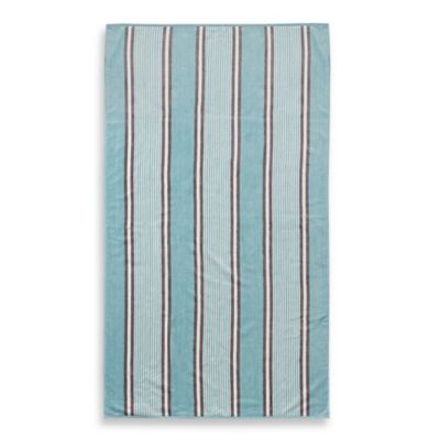 Classic Patio Stripe Oversized Beach Towel