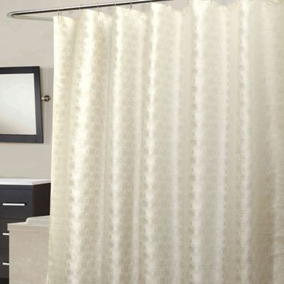 Strie Circles Shower Curtain