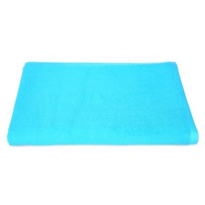 Bright Blue Bath Towels
