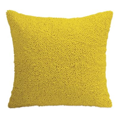 DKNY Gridlock Beaded Square Throw Pillow in Green