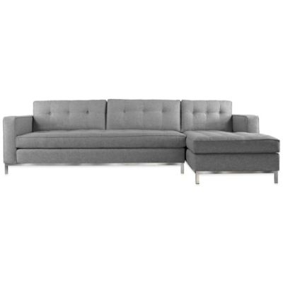 Kyle Schuneman for Apt2B Fillmore 2-Piece Right Arm Facing Sectional in Tweed