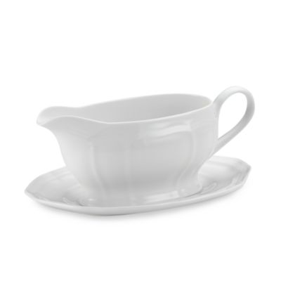 Mikasa® Antique White Gravy Boat and Stand