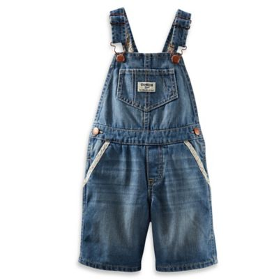 OshKosh B'gosh® Size 12M Shortall in Light Denim
