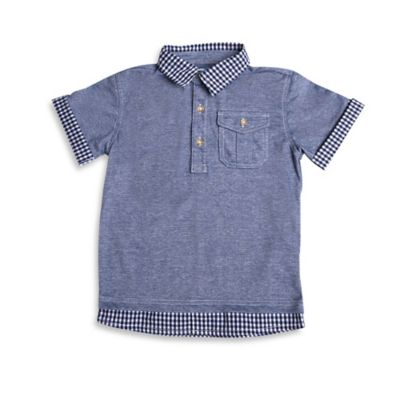 Kapital K™ Size 2T Faux Layered Polo Shirt in Blue