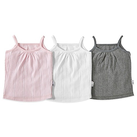 Burt S Bees Baby 174 3 Pack Camisole Set In Pink Grey White