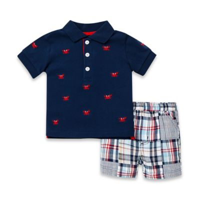 Little Me® Size 18M 2-Piece Crab T-Shirt and Short Set