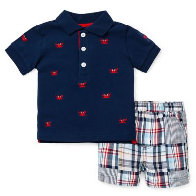 Little Me® Size 4T 2-Piece Crab T-Shirt and Short Set in Navy