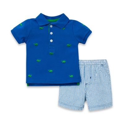 Little Me® Size 6M 2-Piece Whale T-Shirt and Short Set in Blue