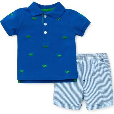 Little Me® Size 2T 2-Piece Whale T-Shirt and Short Set in Blue