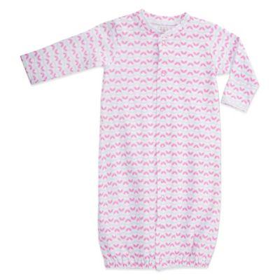 EGG Newborn Jersey Convertible Gown in Pink Dot
