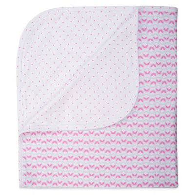 EGG Reversible Jersey Blanket in Pink Dots