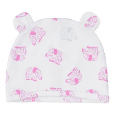 EGG Newborn Jersey Hat in Pink Elephant