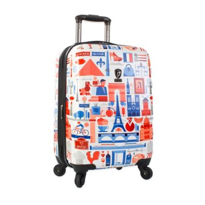 Heys® FVT Cities 21-Inch Expandable 4-Wheel Spinner Upright Luggage with Paris Print