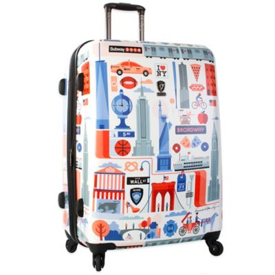 Heys® FVT Cities 30-Inch Expandable 4-Wheel Spinner Upright Luggage with New York Print