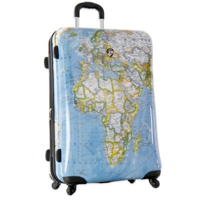 Heys® Journey Maps 30-Inch Expandable 4-Wheel Spinner Upright Luggage