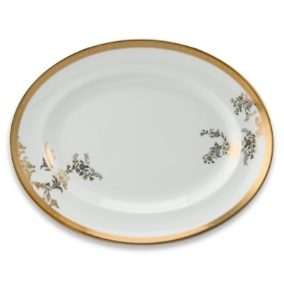 Vera Wang Wedgwood® Vera Lace Gold 13 3/4-Inch Oval Platter