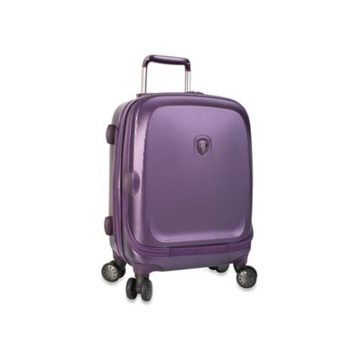 Heys® Gateway 21-Inch Smart Luggage Widebody Upright Spinner in Purple