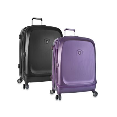 Heys® Gateway 26-Inch Smart Luggage Widebody Upright Spinner in Purple