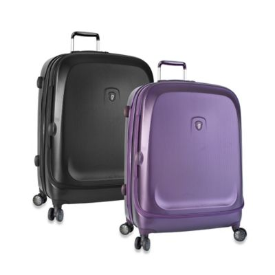 Heys® Gateway 30-Inch Smart Luggage Widebody Upright Spinner in Purple