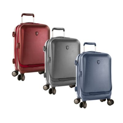 Heys® Portal SmartLuggage™ 21-Inch Expandable 8-Wheel Spinner Upright Luggage in Burgundy