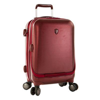Heys® Portal SmartLuggage™ 21-Inch Expandable 8-Wheel Spinner Upright Luggage in Burgundy